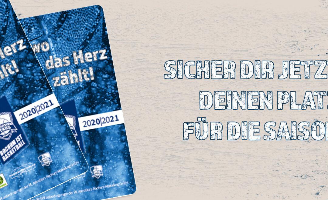 Jetzt Dauerkarten für 2020/21 sichern!